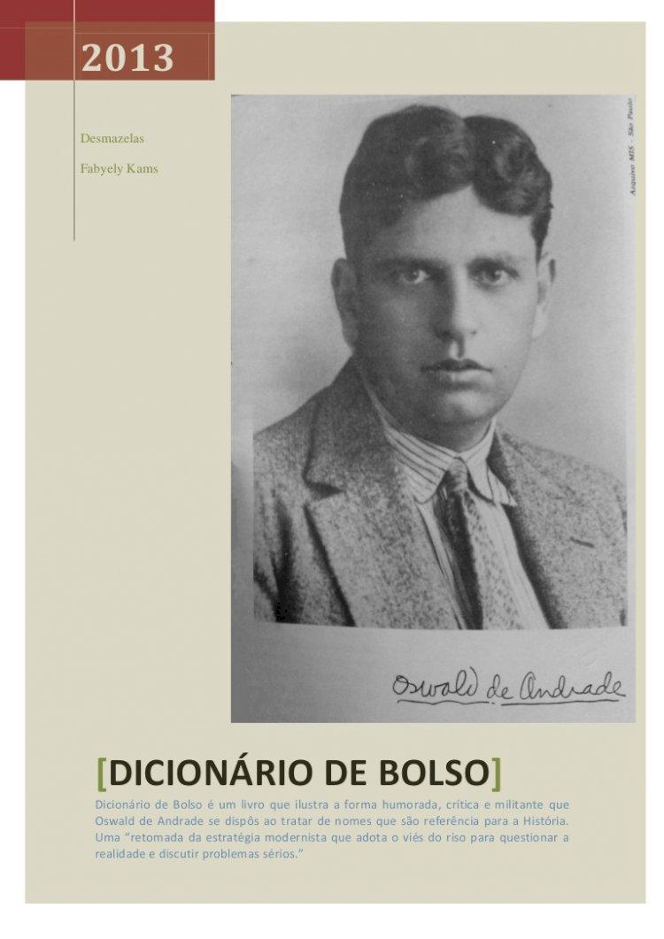 Resumo Dicionário de Bolso - Oswald de Andrade